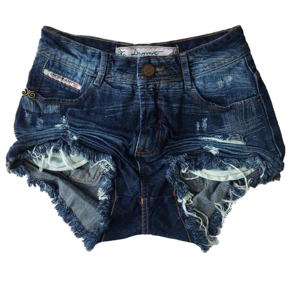 Short Jeans Degrant Cintura Alta Design