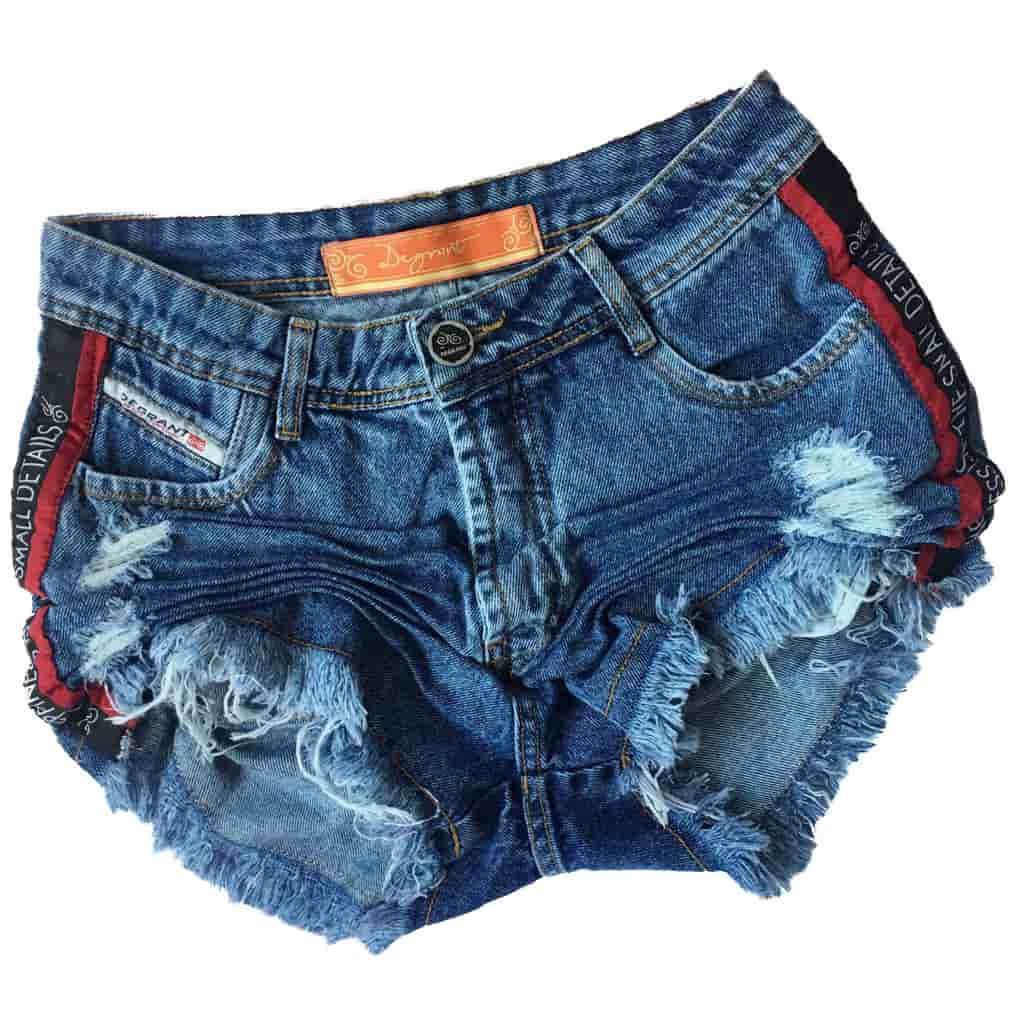 e398f283d ... Short Jeans Degrant Cintura Alta Details Azul - Like Angels ...