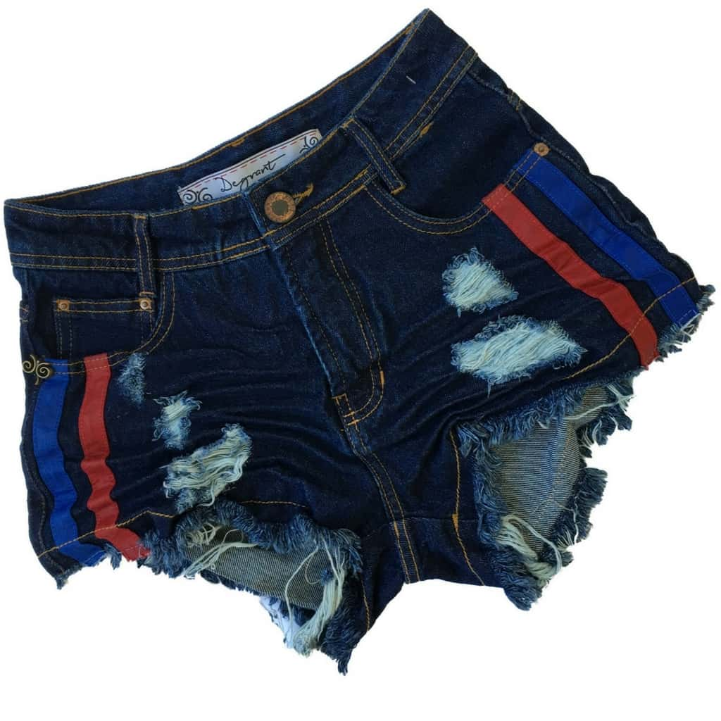 2d9b1ea60 Short Jeans Degrant Cintura Alta Duocouro Azul - Like Angels ...