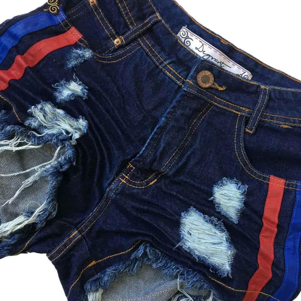 Short Jeans Cintura Alta Duocouro