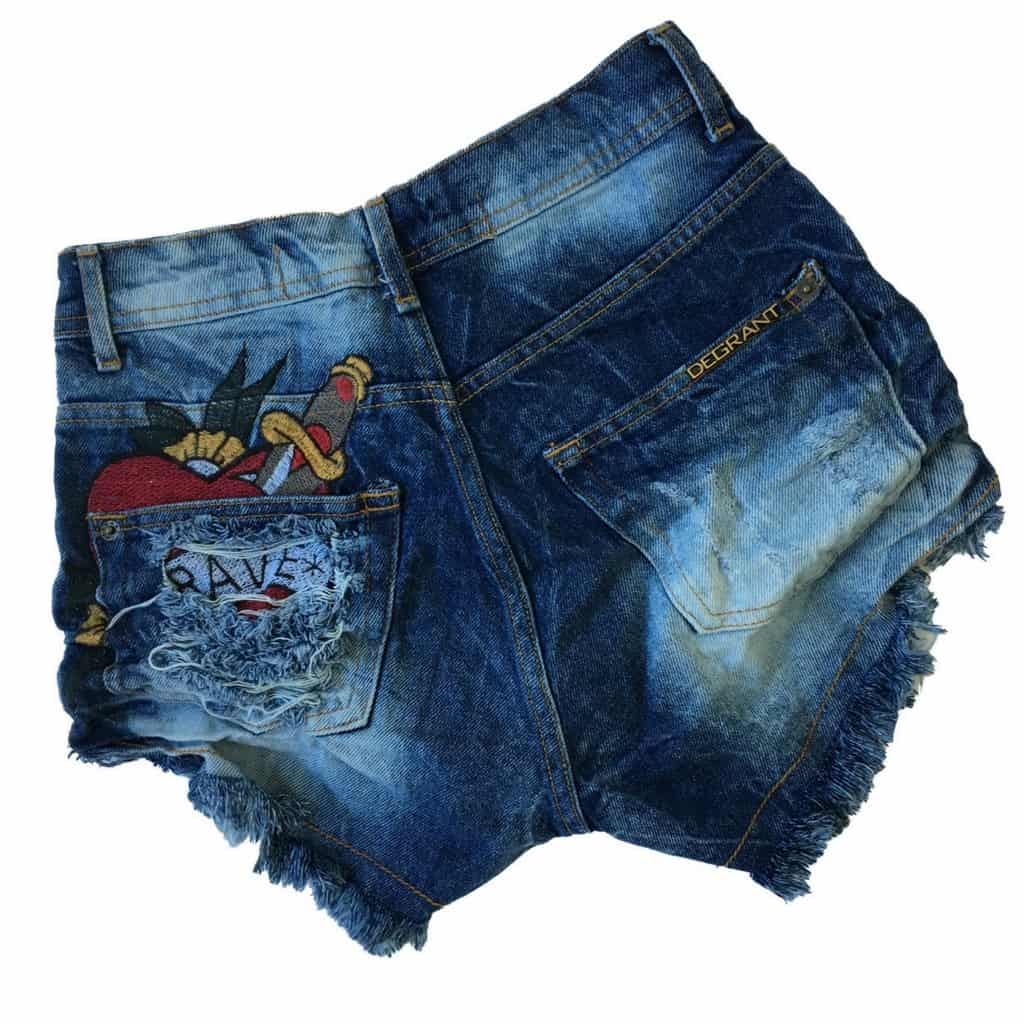 f3b4f7ec6 ... Short Jeans Degrant Destroyed Cintura Alta Brave - Like Angels ...