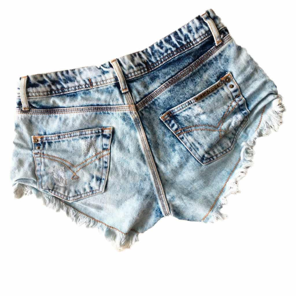Short Jeans Degrant Destroyed Neon