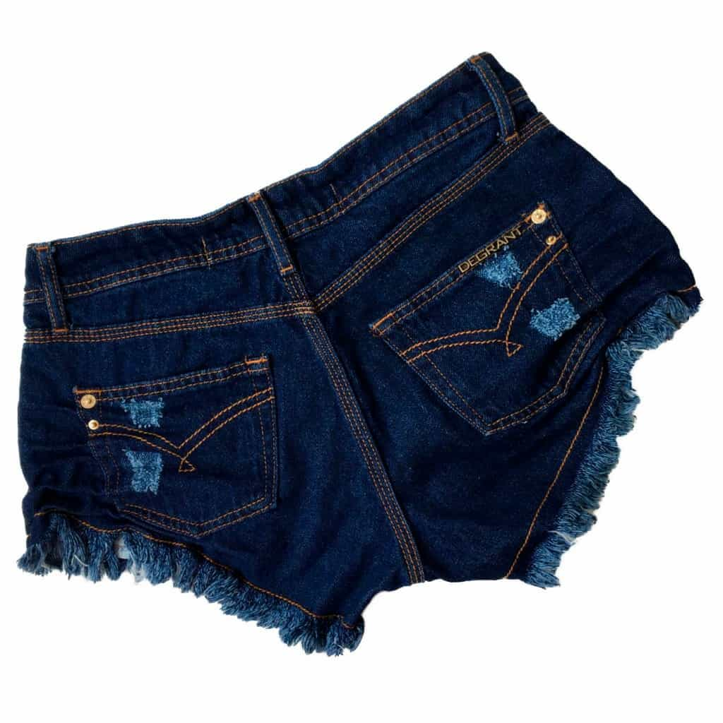 Short Jeans Degrant Destroyed Original Denim Azul