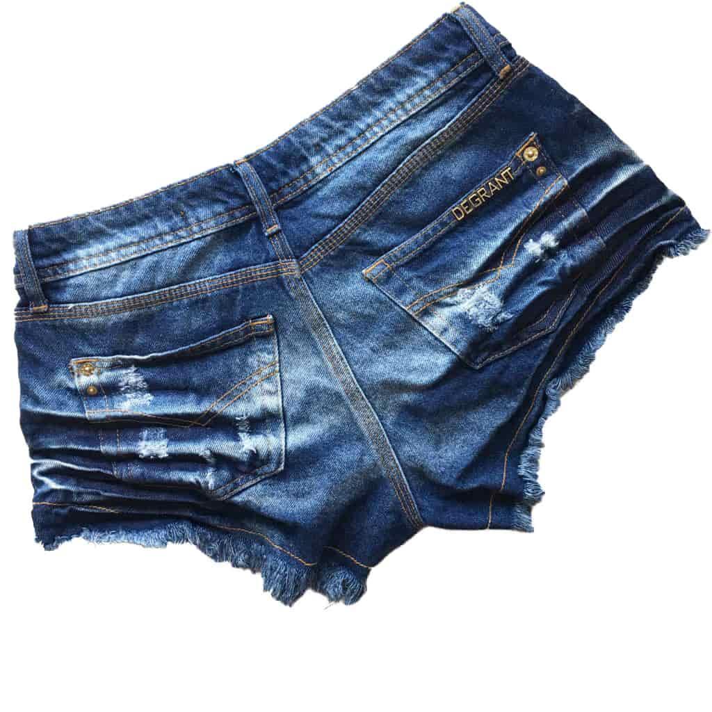 Short Jeans Degrant Destroyed Resinado