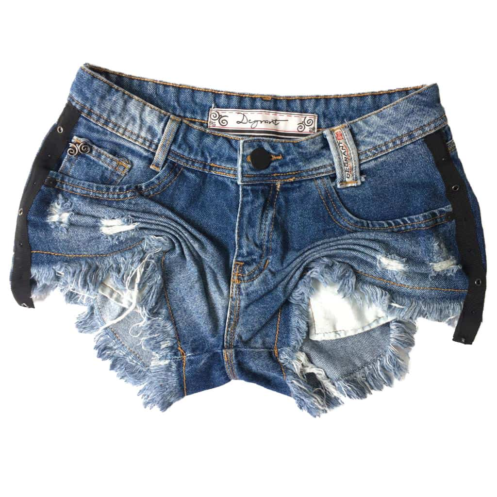 Short Jeans Destroyed Sideband Black