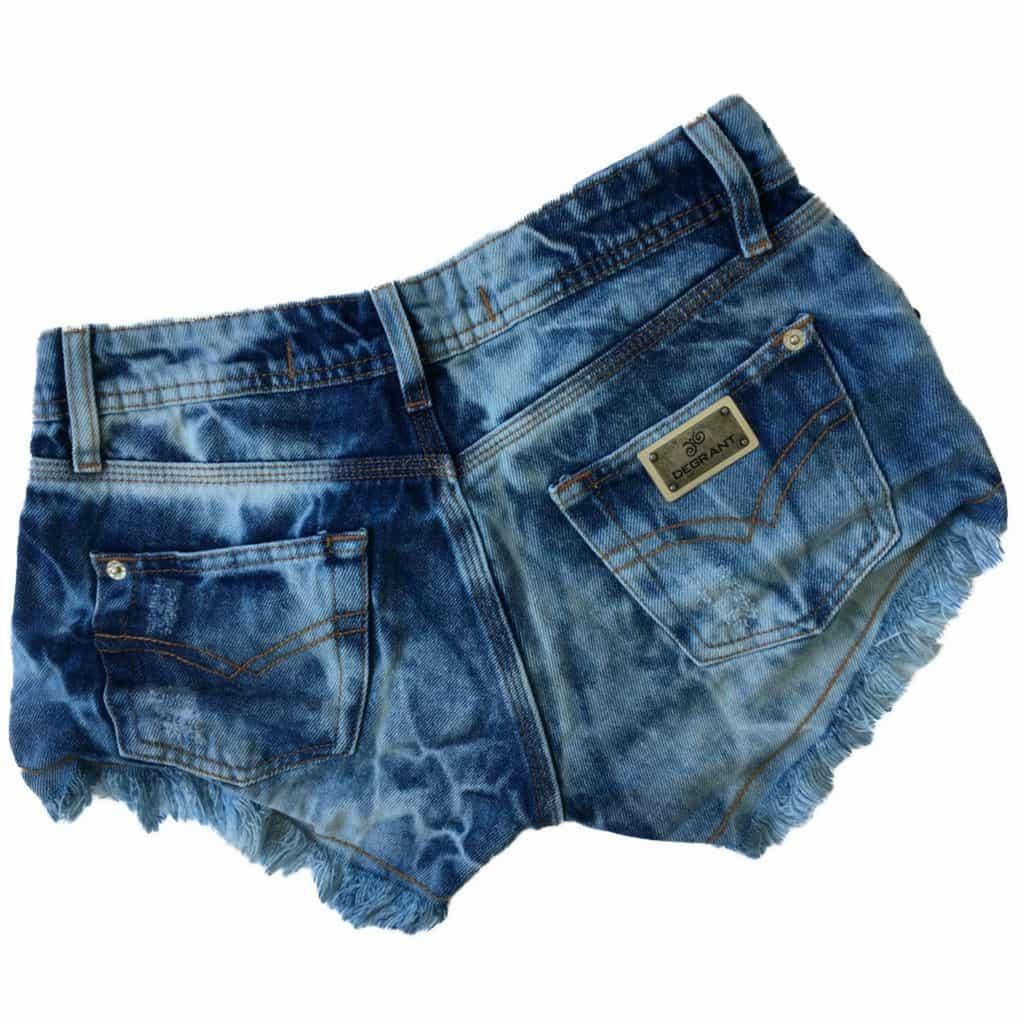 Short Jeans Degrant Destroyed Sky Azul
