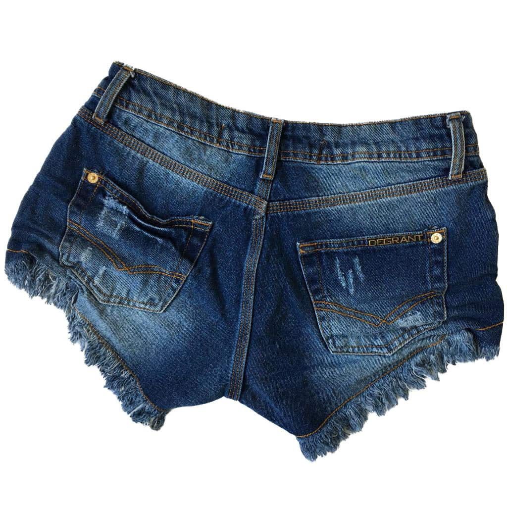 Short Jeans Used Médio Destroyed