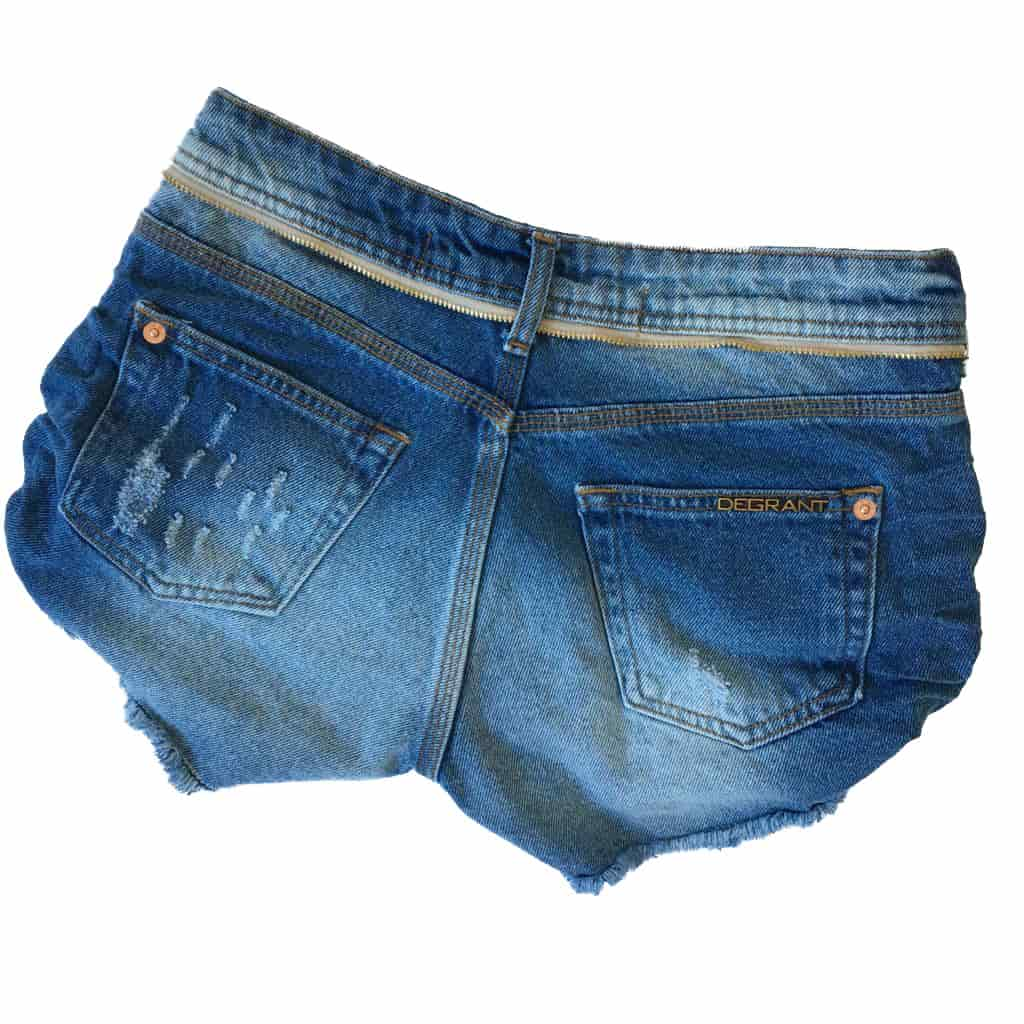 SHORT JEANS DEGRANT DESTROYED ZIPER COLLECTION