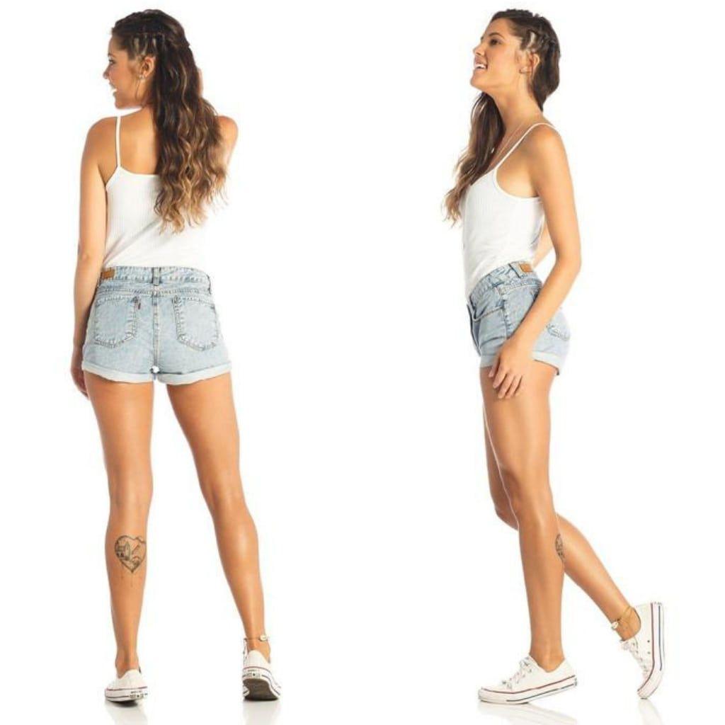 Short Jeans Denim Zero Barra Dobrada