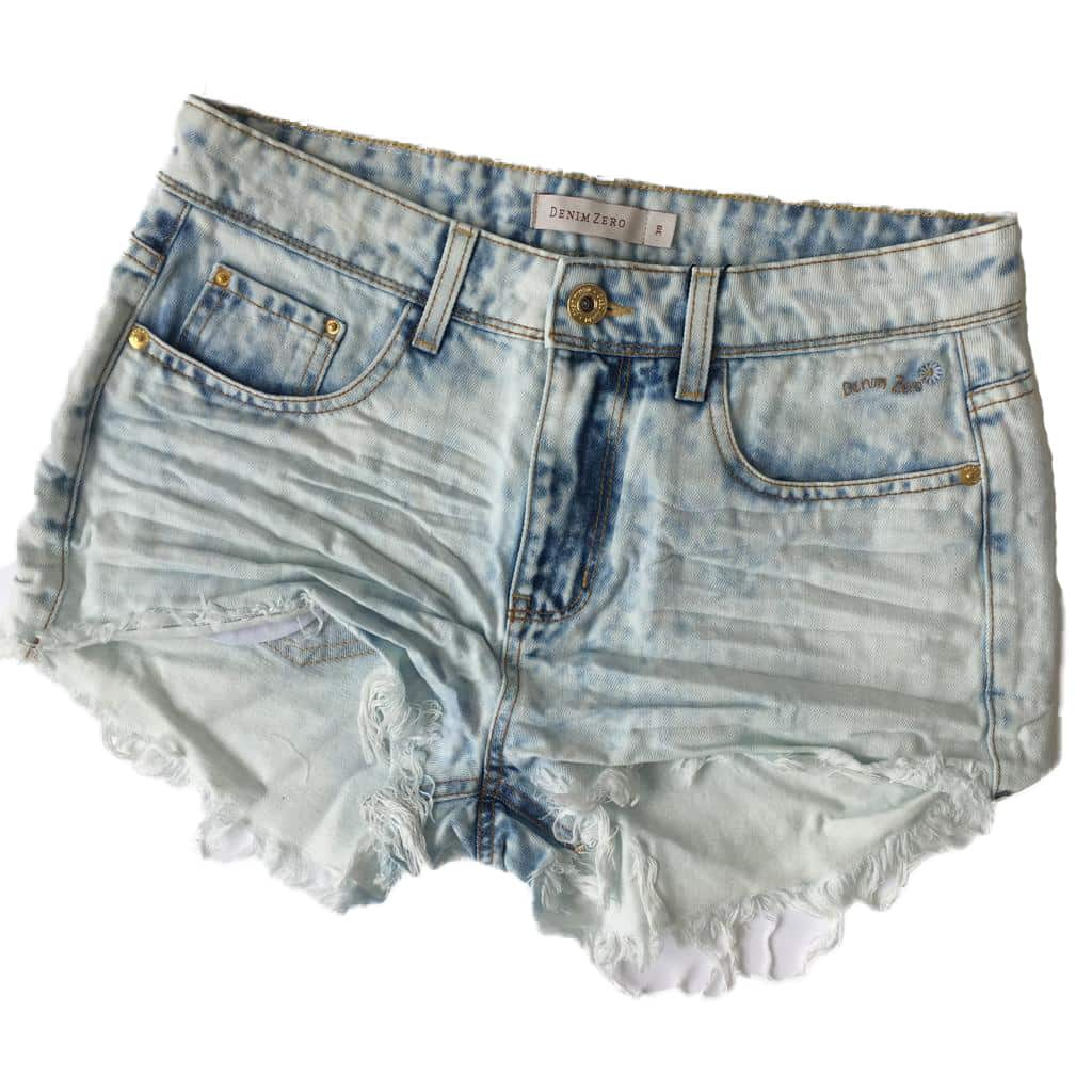 113cc57155917 Short Jeans Denim Zero Clean Azul - Like Angels ...