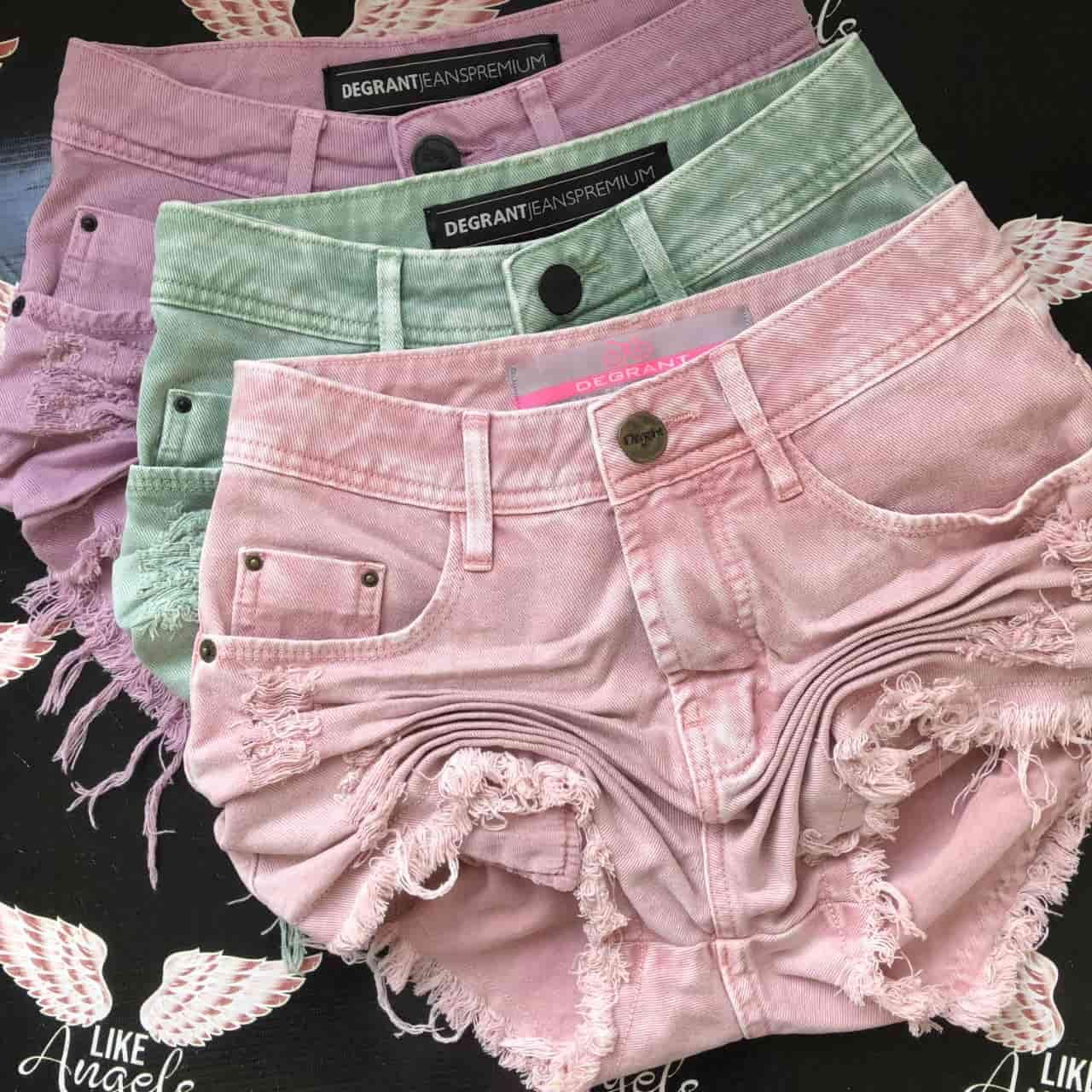 Short Jeans Feast Color ROSA GOIABA