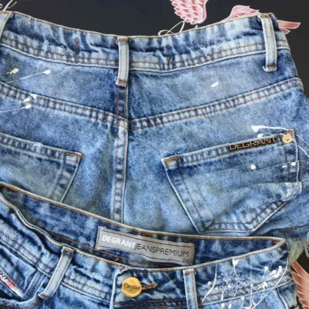 Short Jeans Cintura Alta Splash