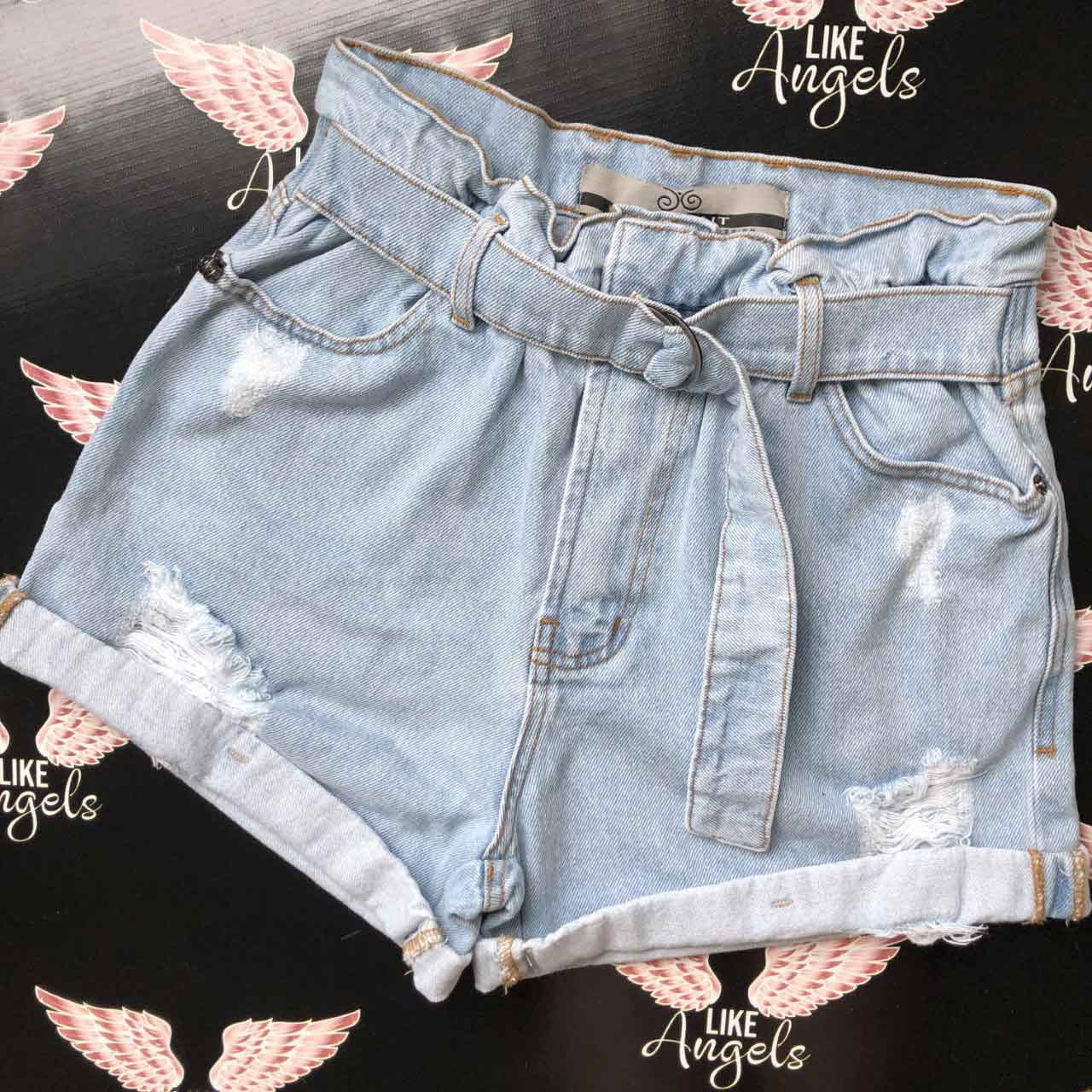 Short Jeans Mom Cintinho