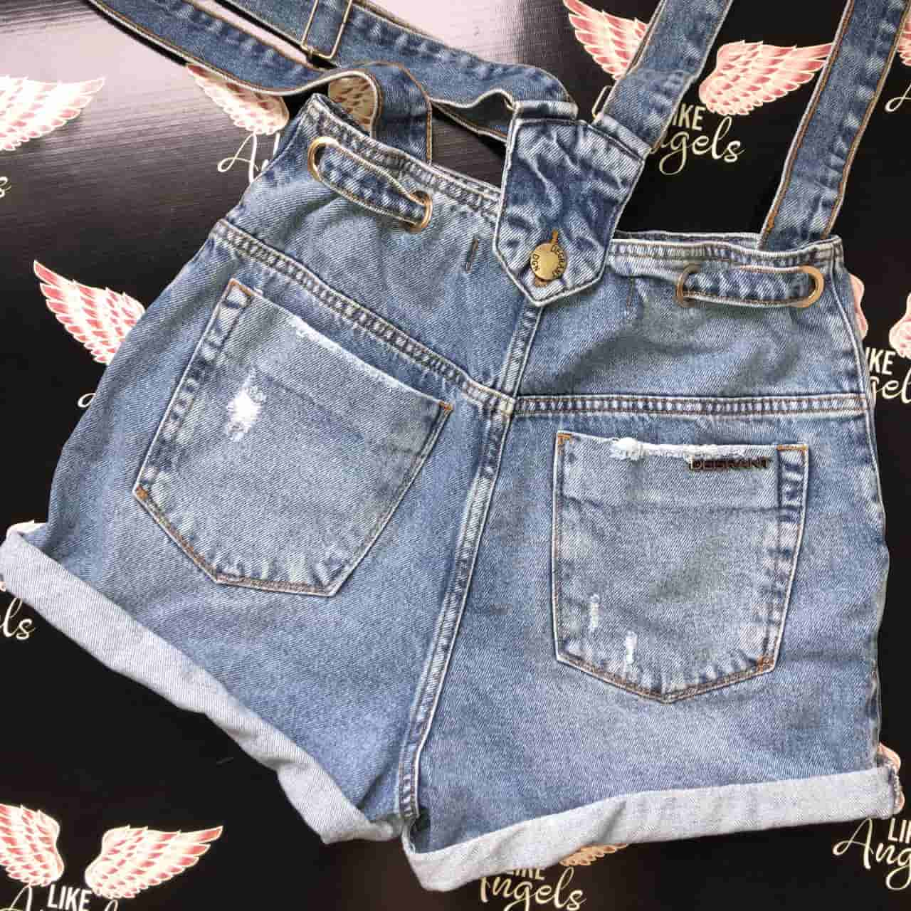Short Jeans Mom Flex Suspender