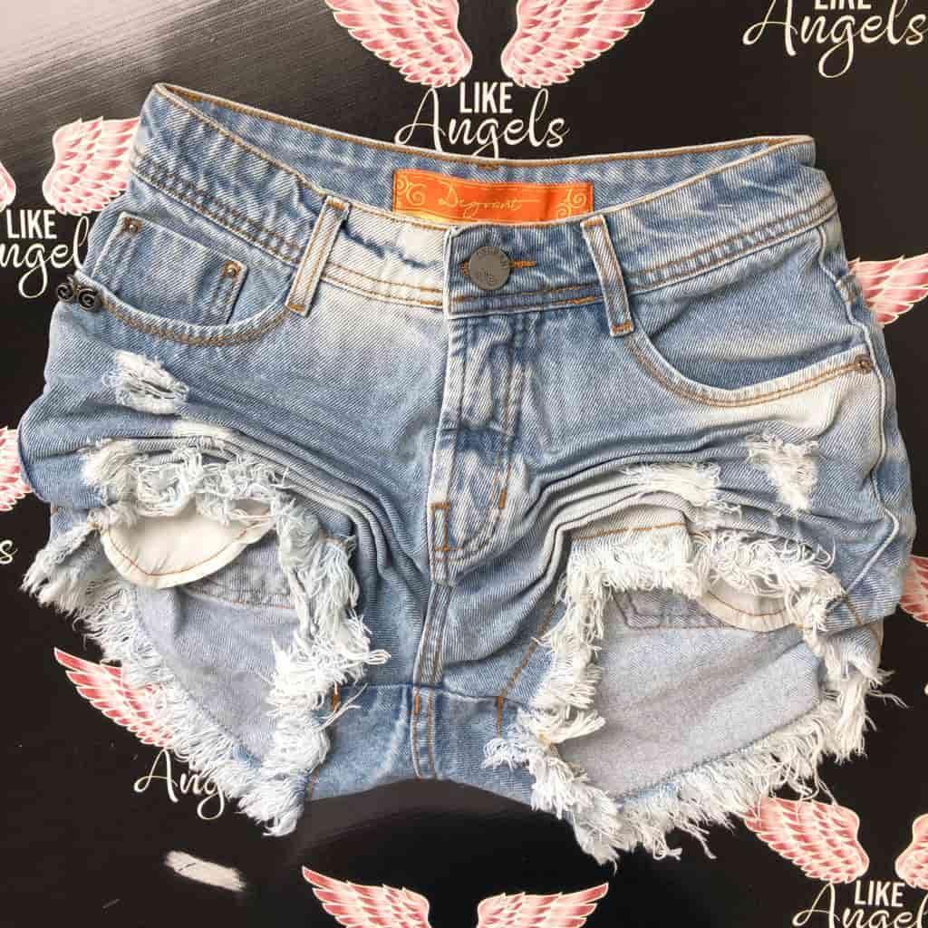 Short Jeans Sky Clean Cintura Alta