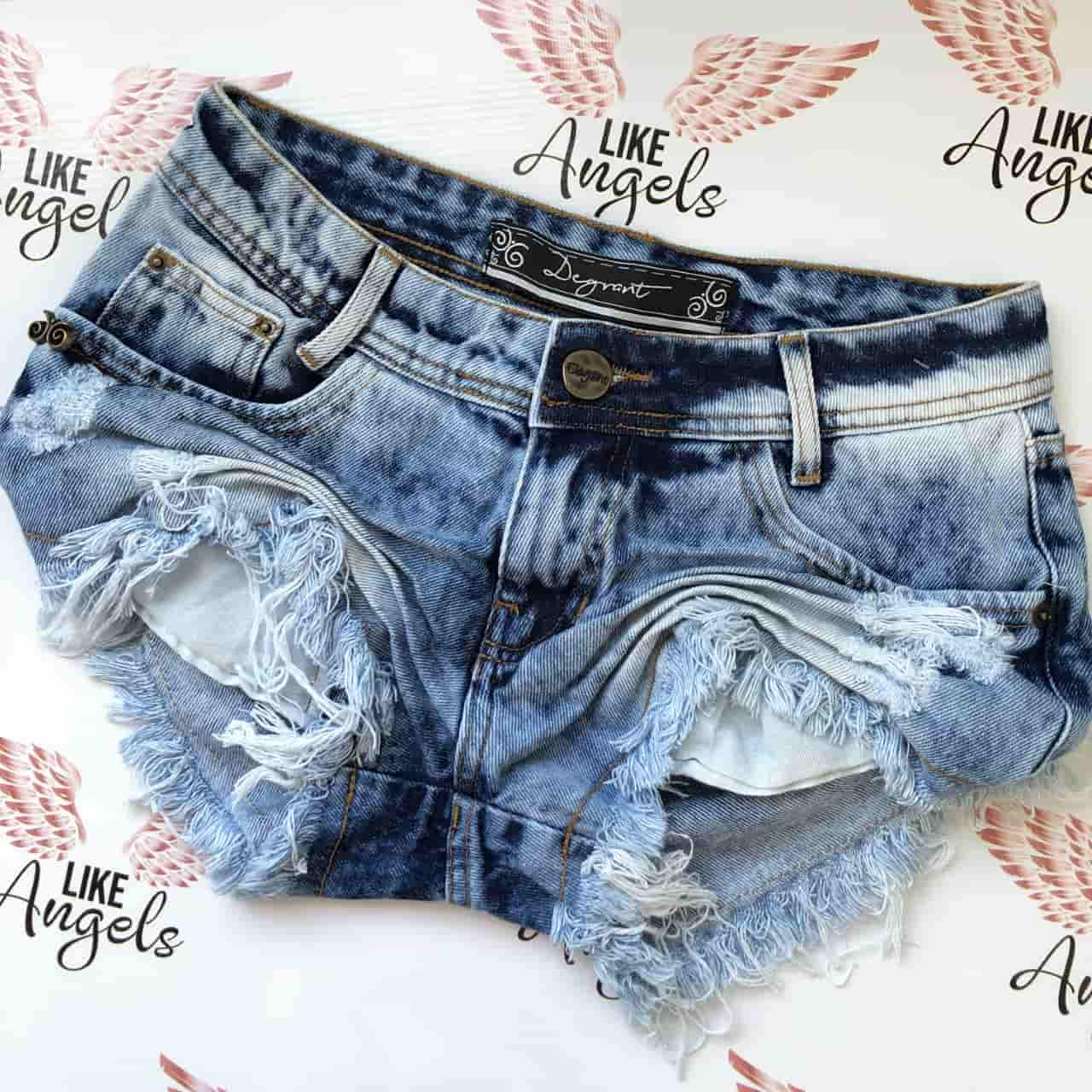 Short Jeans Sky Clean USED Destroyed