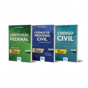 Combo Série Legislação 2020 - Código de Processo Civil / Código Civil / Constituição Federal