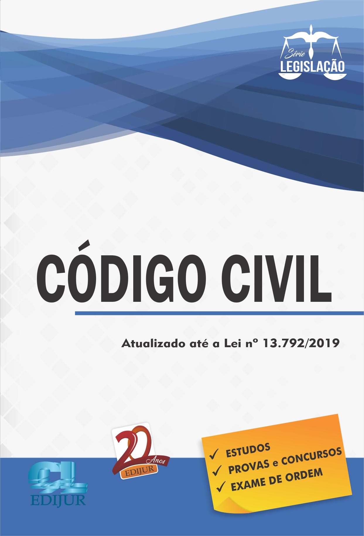 Código Civil Série Legislação  - Edijur Editora