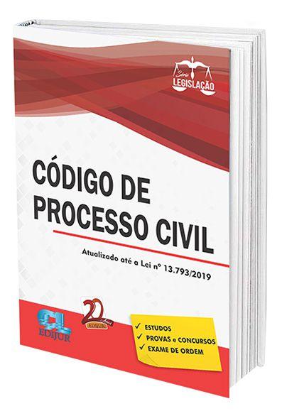 Código de Processo Civil Série Legislação  - Edijur Editora
