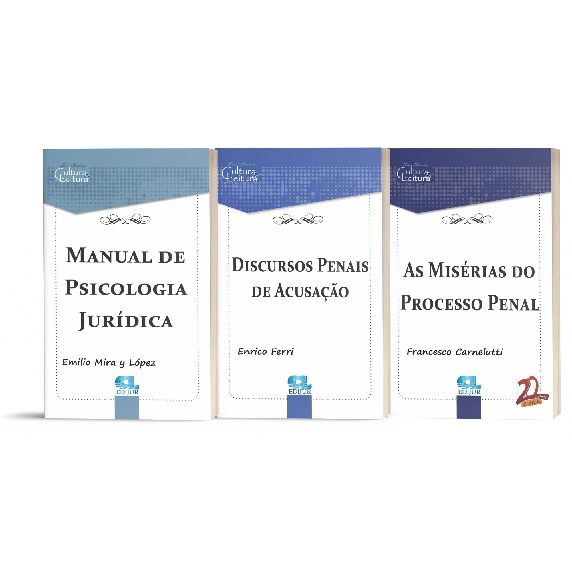 Combo Clássicos do Direito - Criminalista - 11 volumes  - Edijur Editora