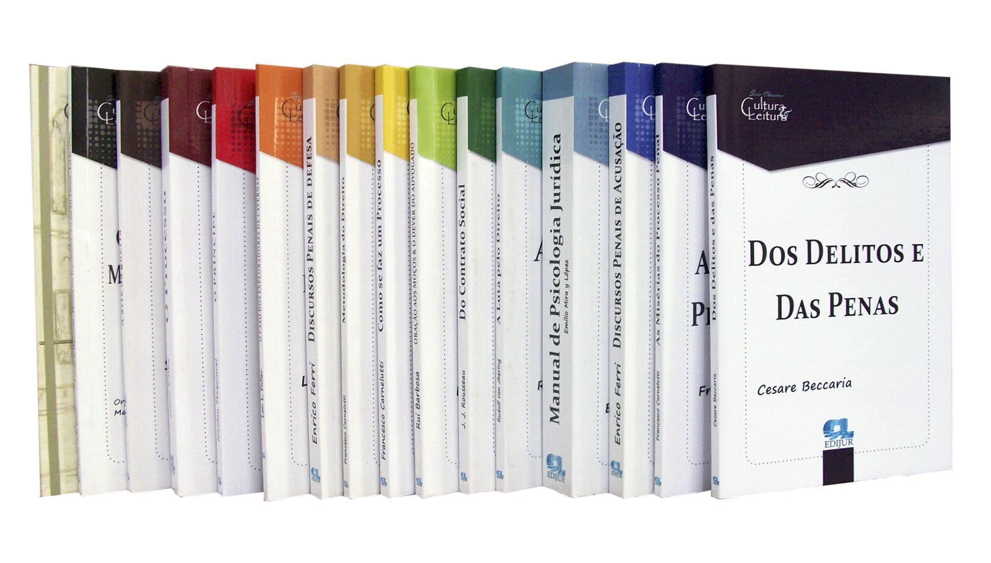 Combo Clássicos Série Cultura & Leitura - 17 volumes  - Edijur Editora