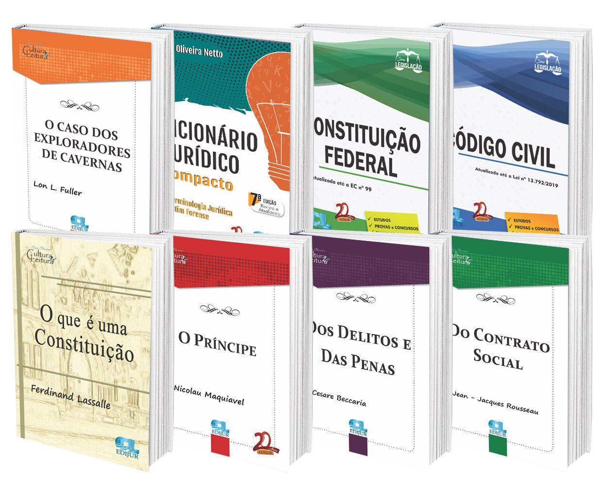 COMBO - Constituição federal + código civil + dicionário compacto + Clássicos  - Edijur Editora