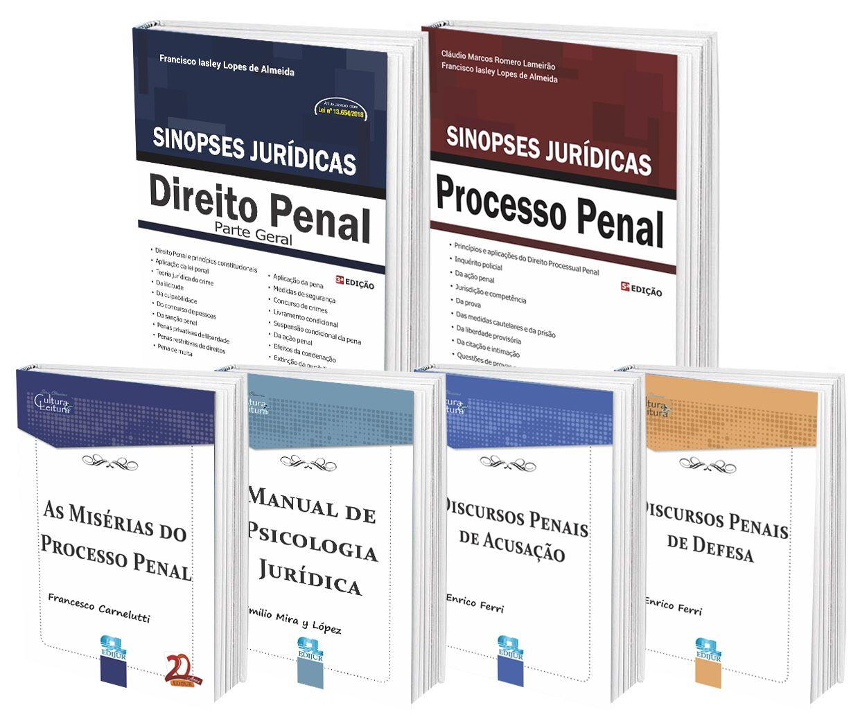 COMBO - Penal & Processo Penal  - Edijur Editora