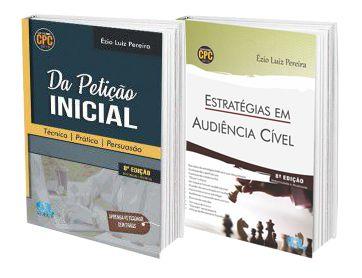 Combo Petição Inicial + Estratégias em Audiência Cível  - Edijur Editora