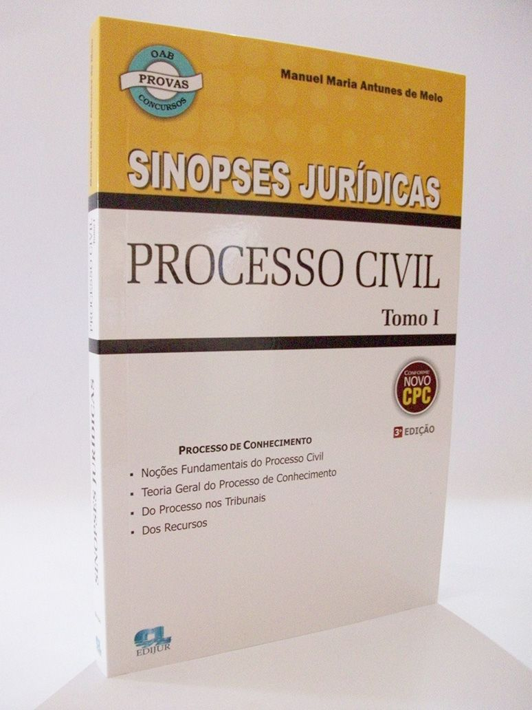 COMBO Sinopses Jurídicas Processo Civil Tomo I + Tomo II  - Edijur Editora
