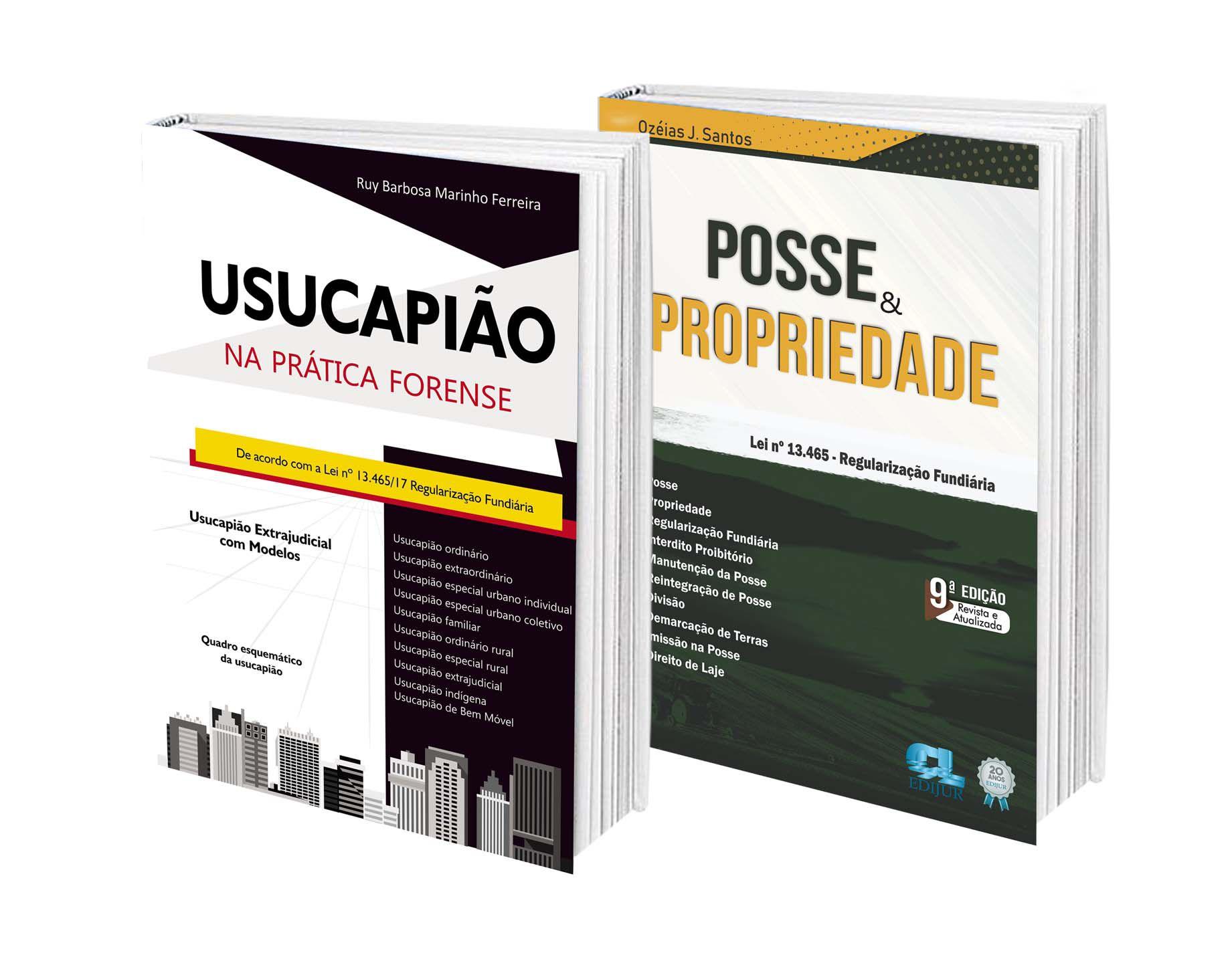 COMBO - Usucapião na Prática Forense + Posse & Propriedade  - Edijur Editora