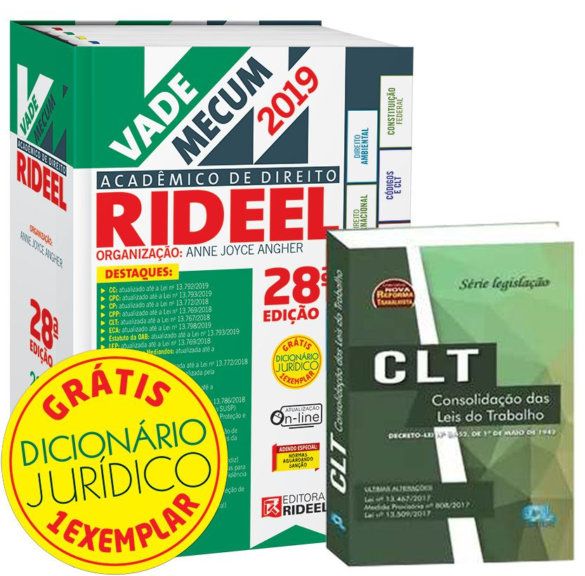 COMBO - Vade Mecum 2019 + CLT seca  - Edijur Editora