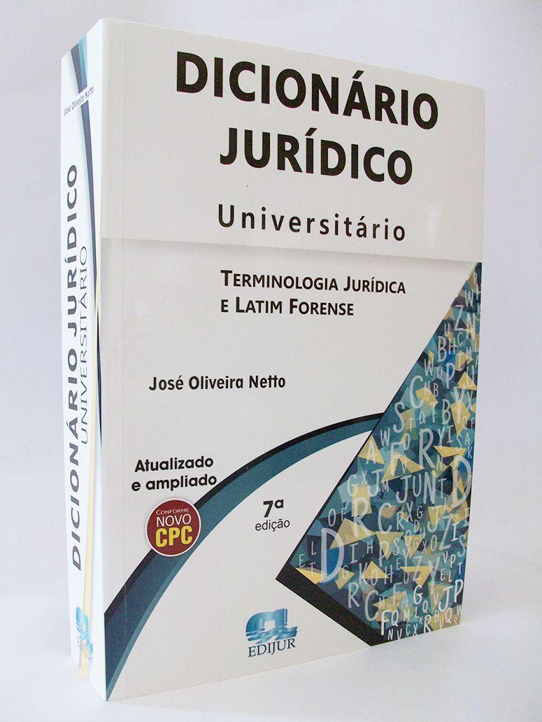 Dicionário Jurídico Universitário   - Edijur Editora