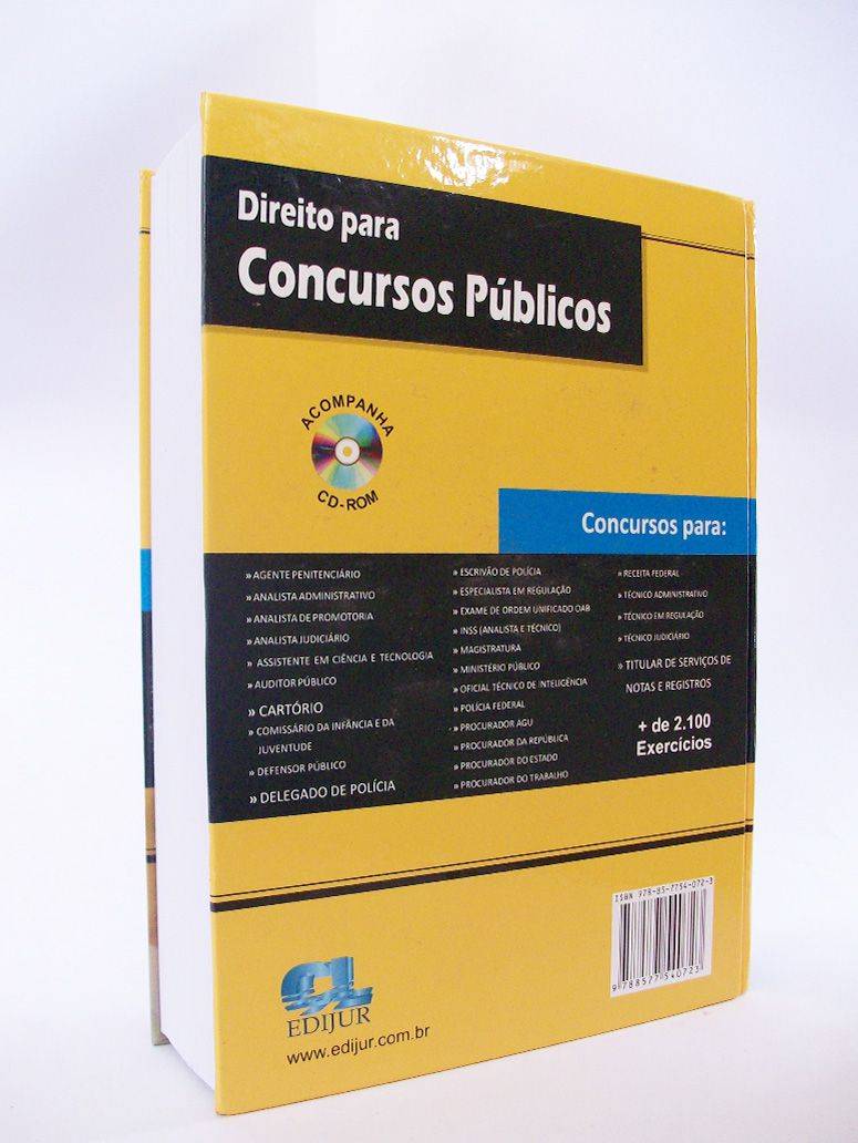 Direito para Concursos Públicos  - Edijur Editora