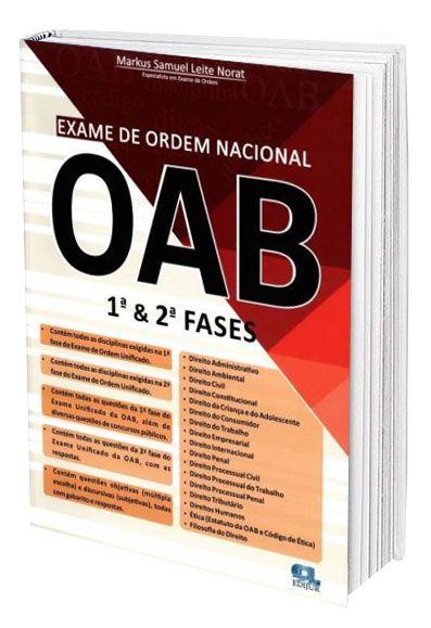 Exame de Ordem Nacional OAB  - Edijur Editora