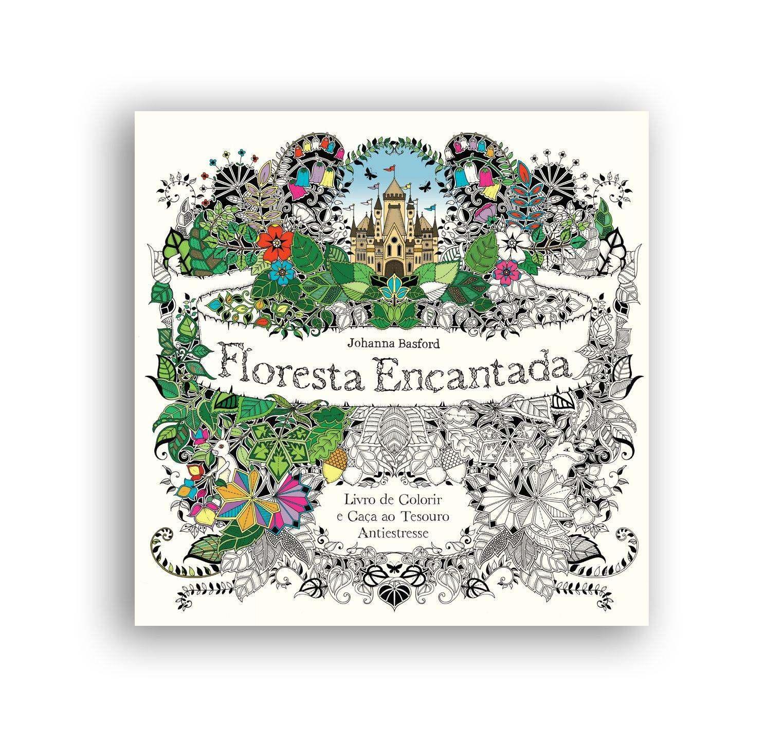 Floresta encantada - livro de colorir  - Edijur Editora