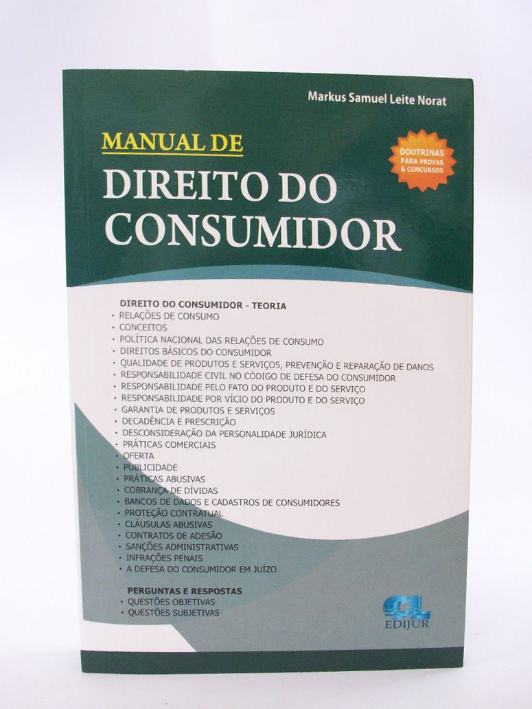 Manual de Direito Do Consumidor  - Edijur Editora