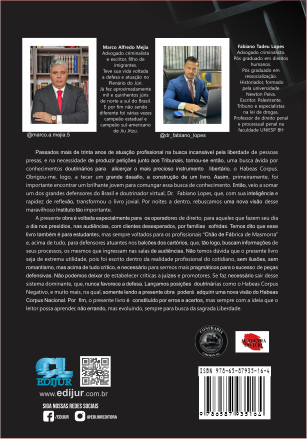 MANUAL DO HABEAS CORPUS - 1ª Edição - 2021  - Edijur Editora