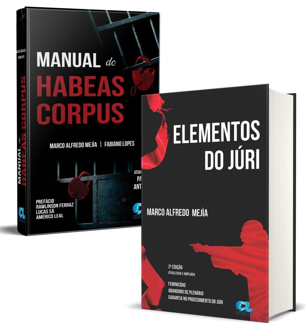 MANUAL DO HABEAS CORPUS + ELEMENTOS DO JÚRI  - Edijur Editora
