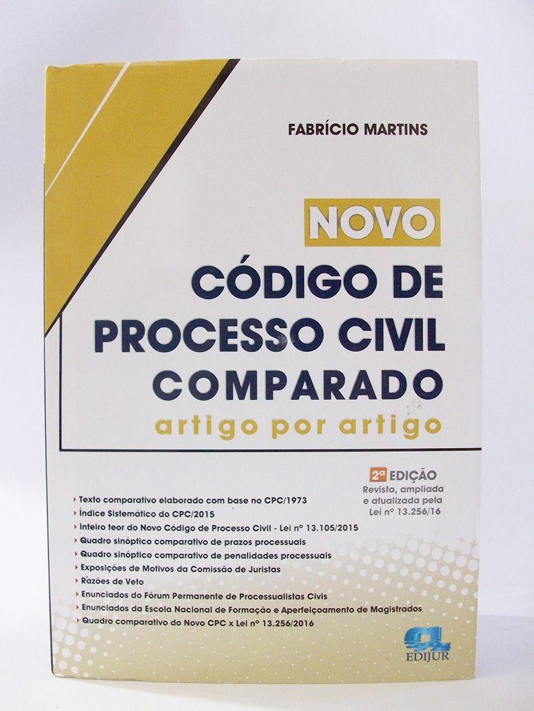 Novo Código de Processo Civil Comparado Artigo por Artigo  - Edijur Editora