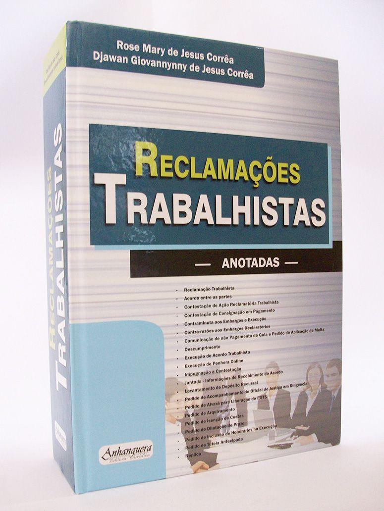 Reclamações Trabalhistas - Anotadas  - Edijur Editora
