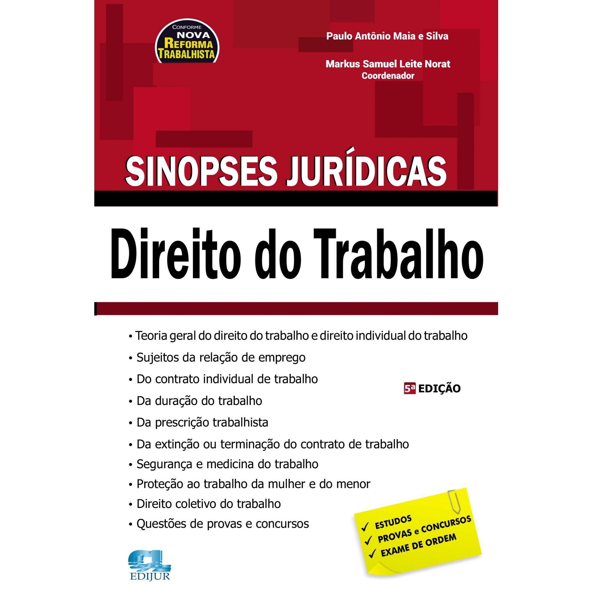 Sinopses Jurídicas - Direito do Trabalho  - Edijur Editora
