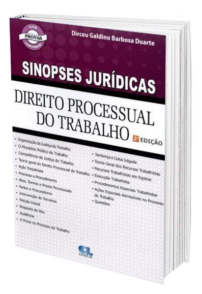 Sinopses Jurídicas - Direito Processual do Trabalho  - Edijur Editora