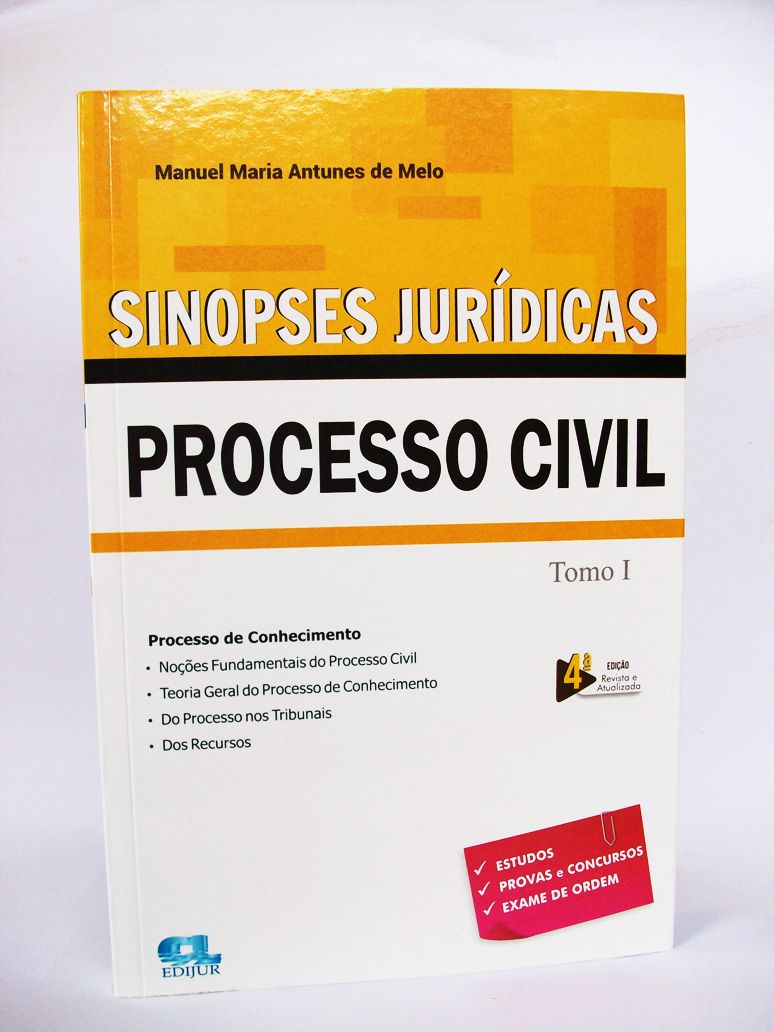 Sinopses Jurídicas Processo Civil Tomo I 2019  - Edijur Editora