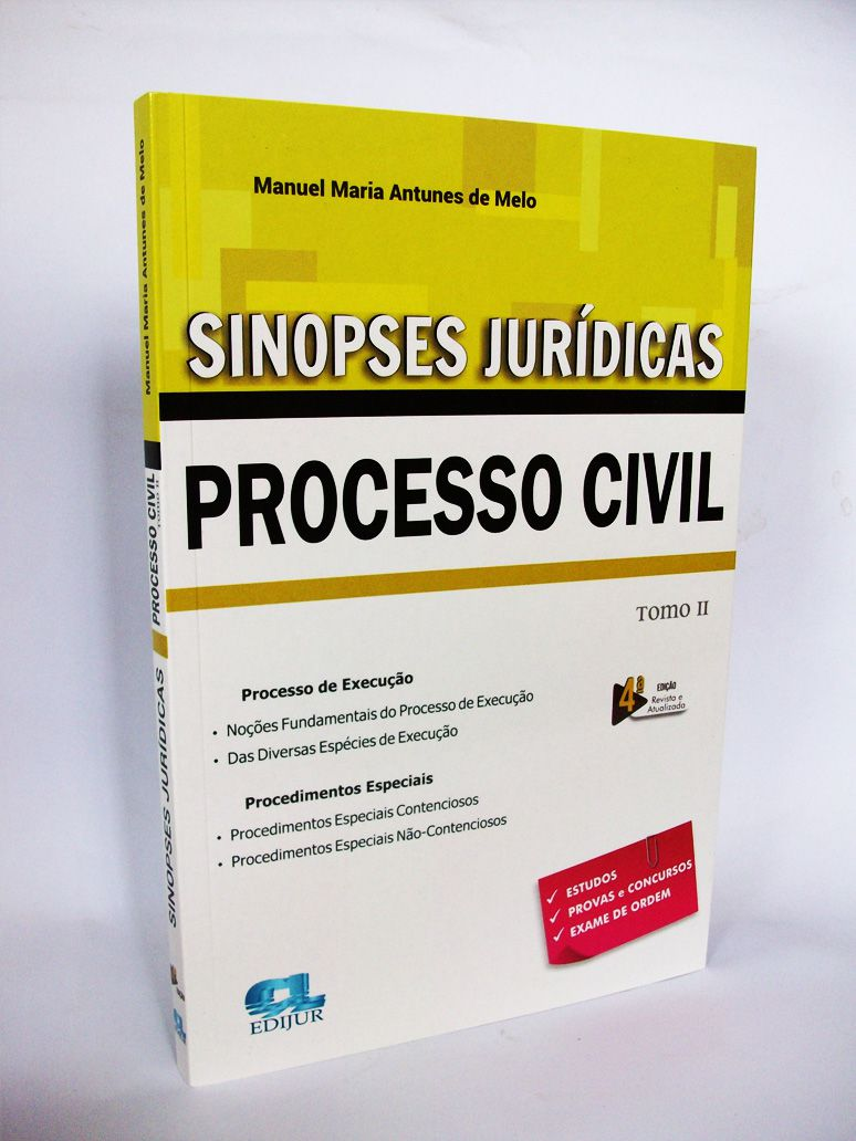 Sinopses Jurídicas - Processo Civil Tomo II - 2019  - Edijur Editora