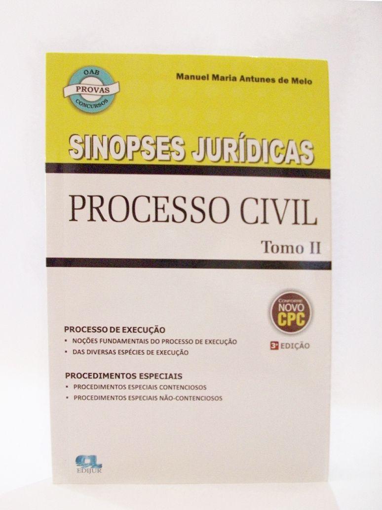 Sinopses Jurídicas - Processo Civil Tomo II   - Edijur Editora