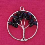 Árvore da Vida - Arame - Pedra Estrela - 40mm