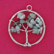 Árvore da Vida - Arame - Quartzo Verde - 40mm