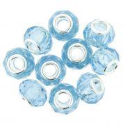 Berloque Crystal® - Azul Claro Transparente - Níquel