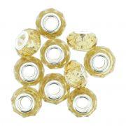 Berloque Crystal® - Dourado Transparente - Níquel