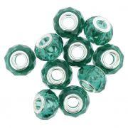 Berloque Crystal® - Turquesa Transparente - Níquel